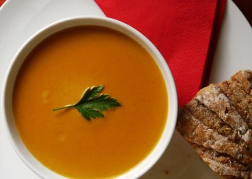 Spicy squash chilli soup